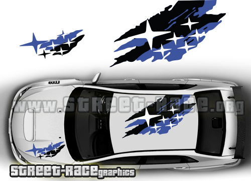 Impreza roof graphics