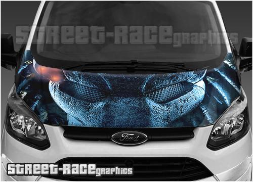 Ford Transit Custom bonnet wraps