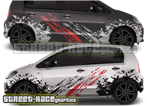 Volkswagen Up! large rally graphics