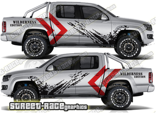 VW Amarok large rally raid style graphics