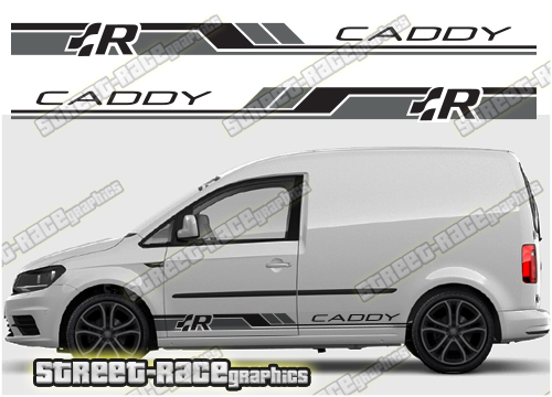 VW Caddy side decals and racing stripes