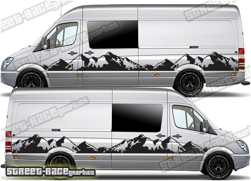 Mercedes Sprinter camper van stickers