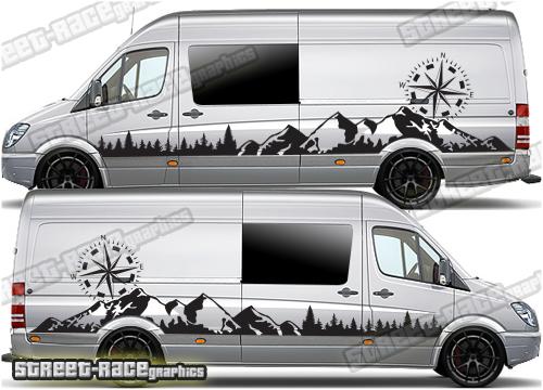 VW Crafter camper van stickers