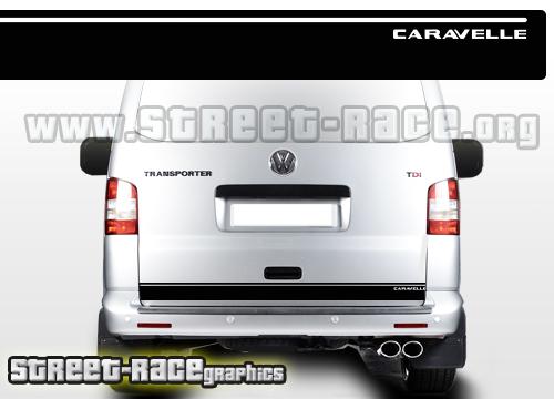 VW Transporter rear horizontal stripes