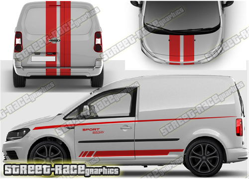 VW Caddy larger decals