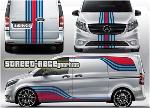 Mercedes Martini racing stripes