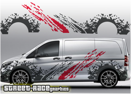 Mercedes Vito rally/racing graphics