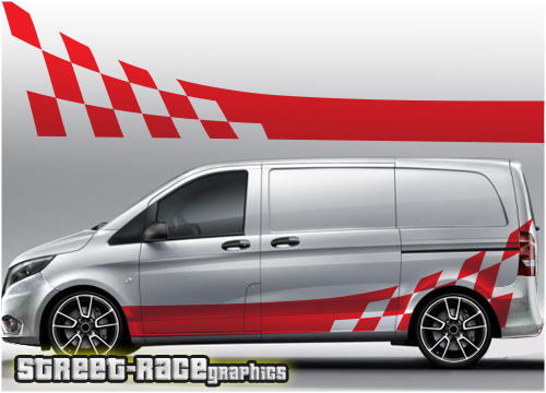 Mercedes Vito racing stripe graphics