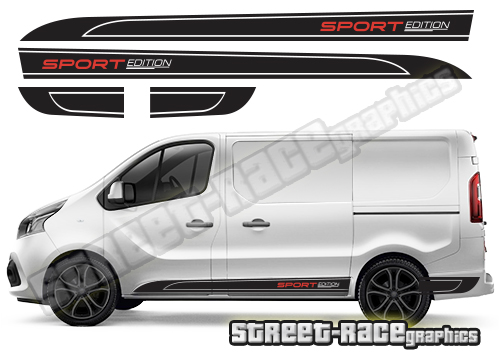 Vauxhall / Opel Vivaro van side graphics