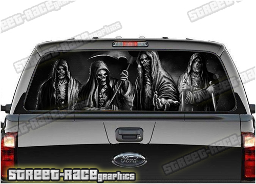 4x4 Truck perforated window graphics