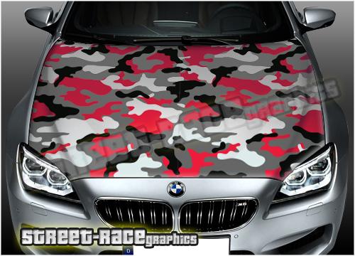 Camouflage pattern bonnet wraps