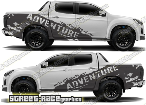 Isuzu D-Max large graphics kits