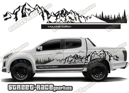 Isuzu D-Max side stickers