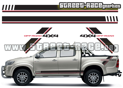 Toyota Hilux side graphics