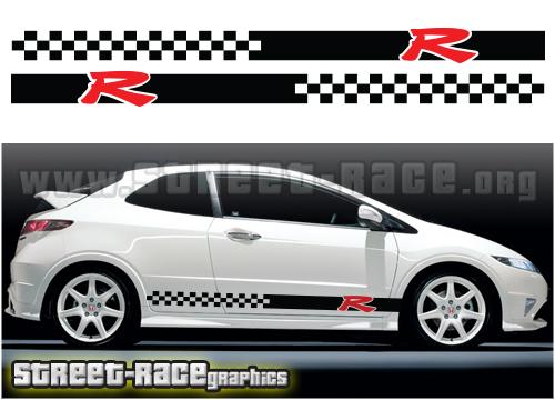 Honda Civic side racing stripes