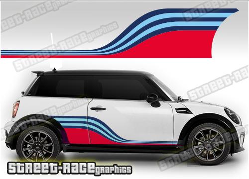 Mini Martini Racing stripe graphics
