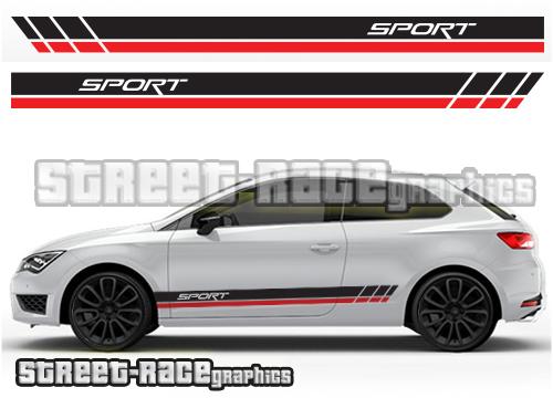 Seat Leon side stripes & graphcs