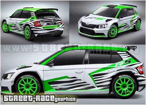 Skoda Fabia Rally motorsport graphics