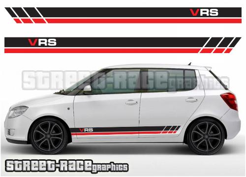Skoda Fabia side graphics / racing stripes
