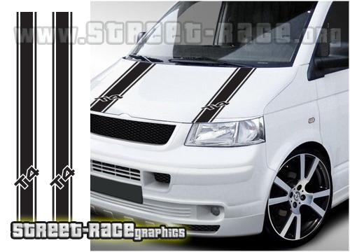VW Transporter bonnet stripes