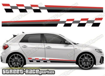 Audi A1 printed side decals