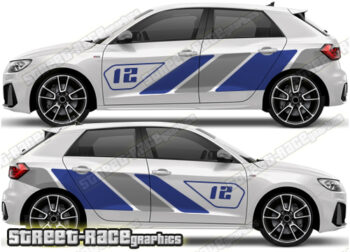 Audi A1 rally graphics