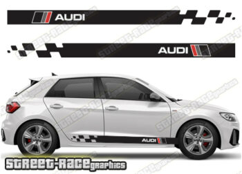 Audi A1 racing stripes