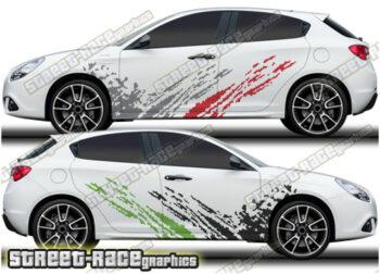 Alfa Romeo Giulietta rally graphics