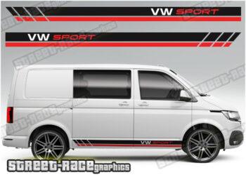 VW Transporter Racing stripes