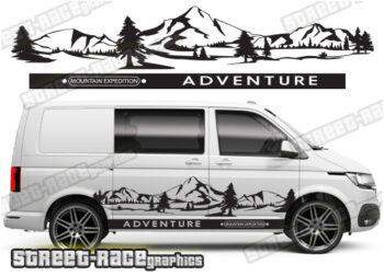 VW Transporter mountain designs