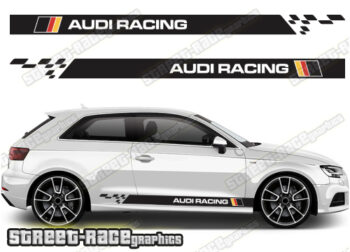 Audi A3 racing stripes