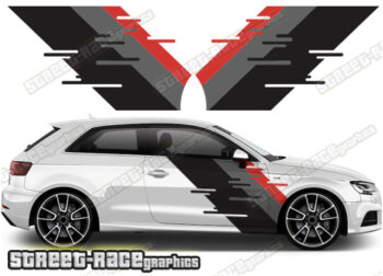 Audi A3 printed stickers