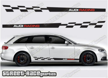 Audi A4 racing stripes