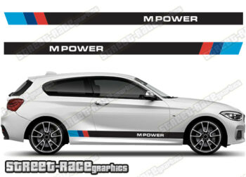 BMW M-POWER stripe stickers