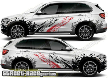 BMW X5 rally decals