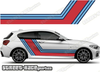 BMW Martini racing stripes