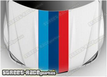BMW bonnet racing stripes