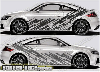 Audi TT race / rally style decals