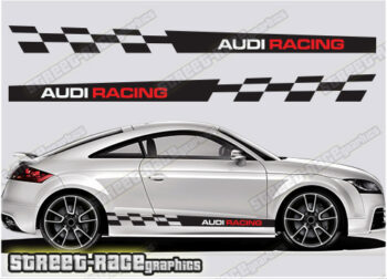 Audi TT side racing stripes