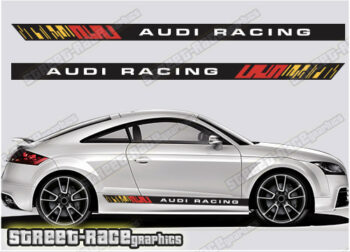 Audi TT printed racing stripes