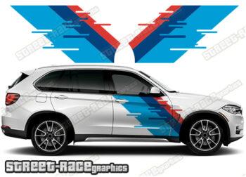 BMW X5 printed stickers