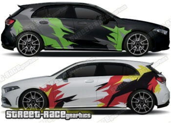 Mercedes A Class rally graphics