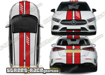 Mercedes 'OTT' over the top racing stripes