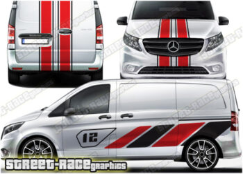 Mercedes Vito stickers - sides, front & rear
